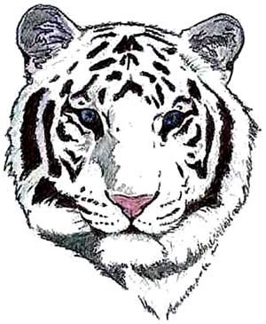 White Tiger Tattoo Designs for Women