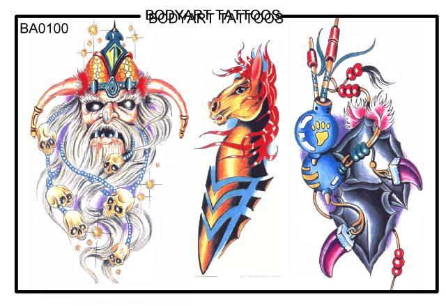 horoscopes tattoos tribal Ba0100 Send Bodyart eCard Tattoos
