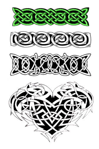 Celtic Knot Band Tattoo Designs