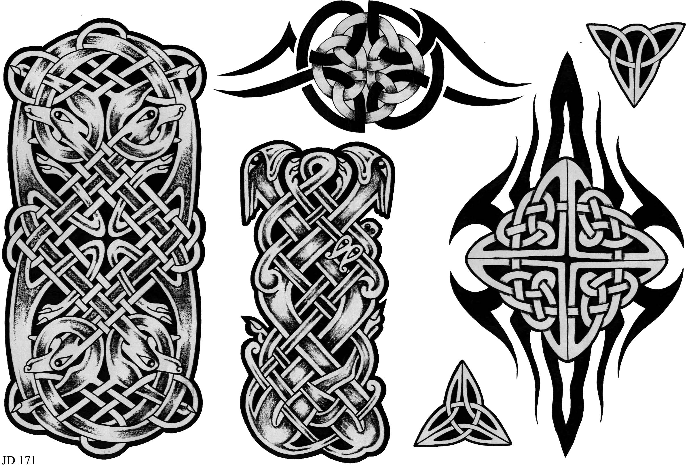 celtic tattoo designs sheet 171 celtic tattoo designs home tattoo designs. Black Bedroom Furniture Sets. Home Design Ideas