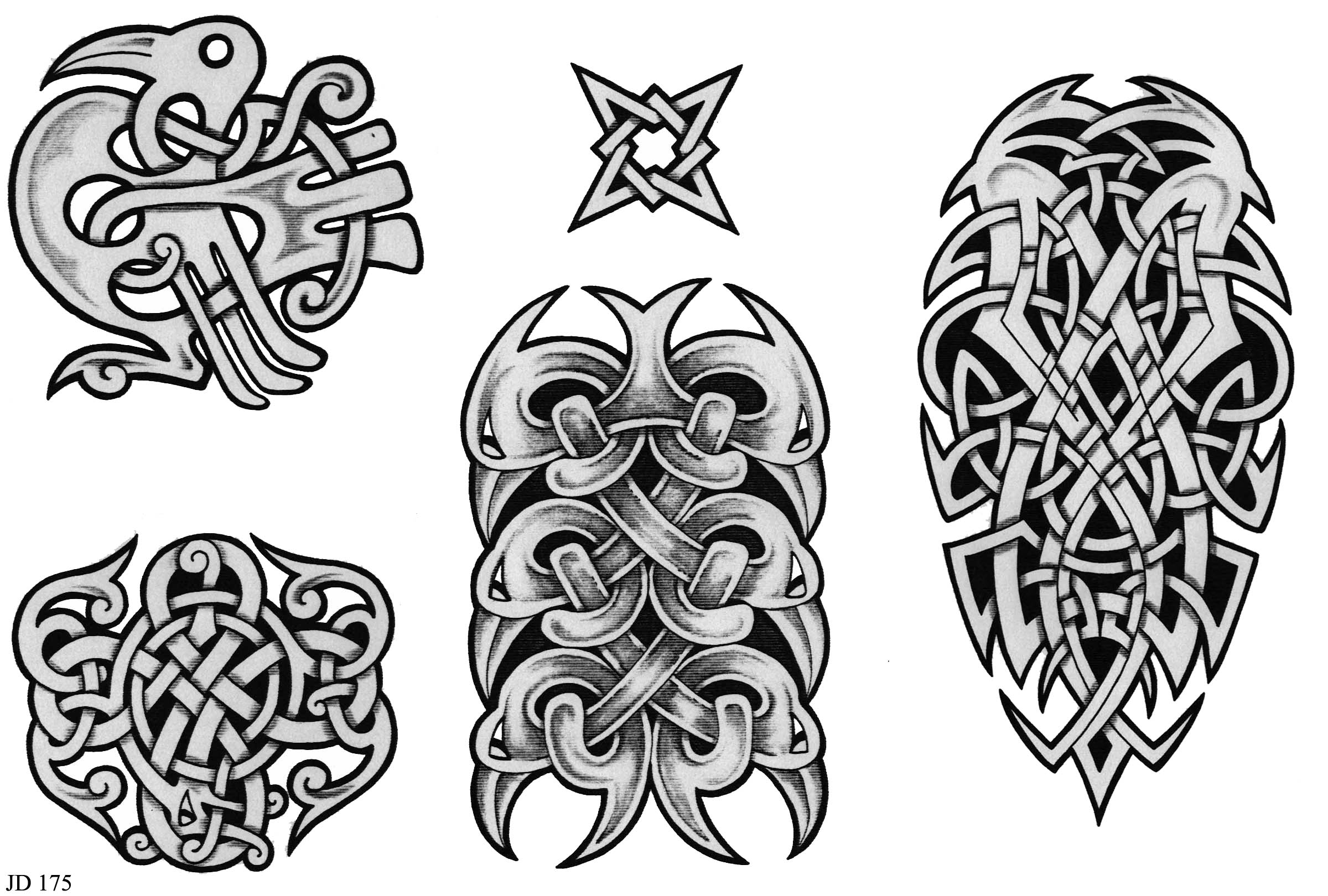 Celtic Tattoo photographs and images page. Huge collection of