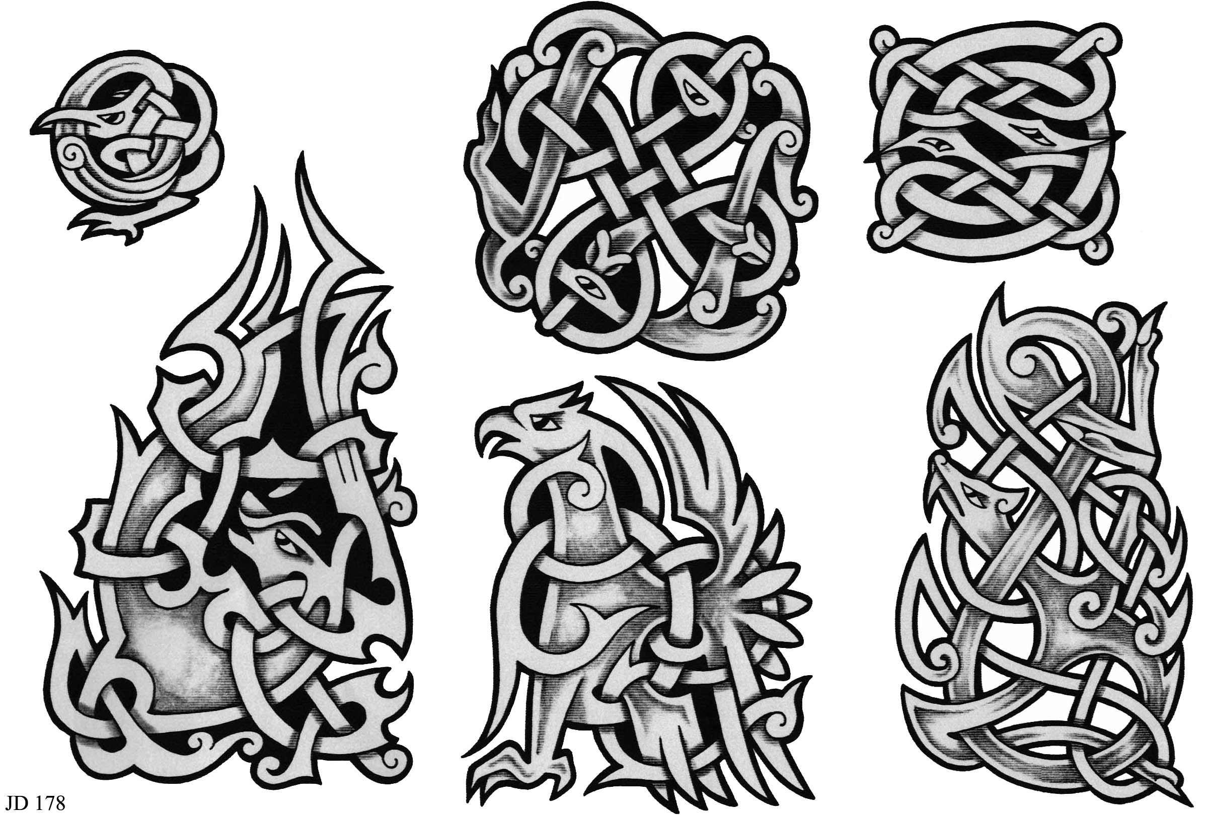Celtic Tattoo Designs Sheet 178 Celtic Tattoo Designs