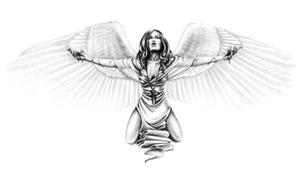 angel tattoo designs 56 angel tattoo designs home tattoo designs. Black Bedroom Furniture Sets. Home Design Ideas