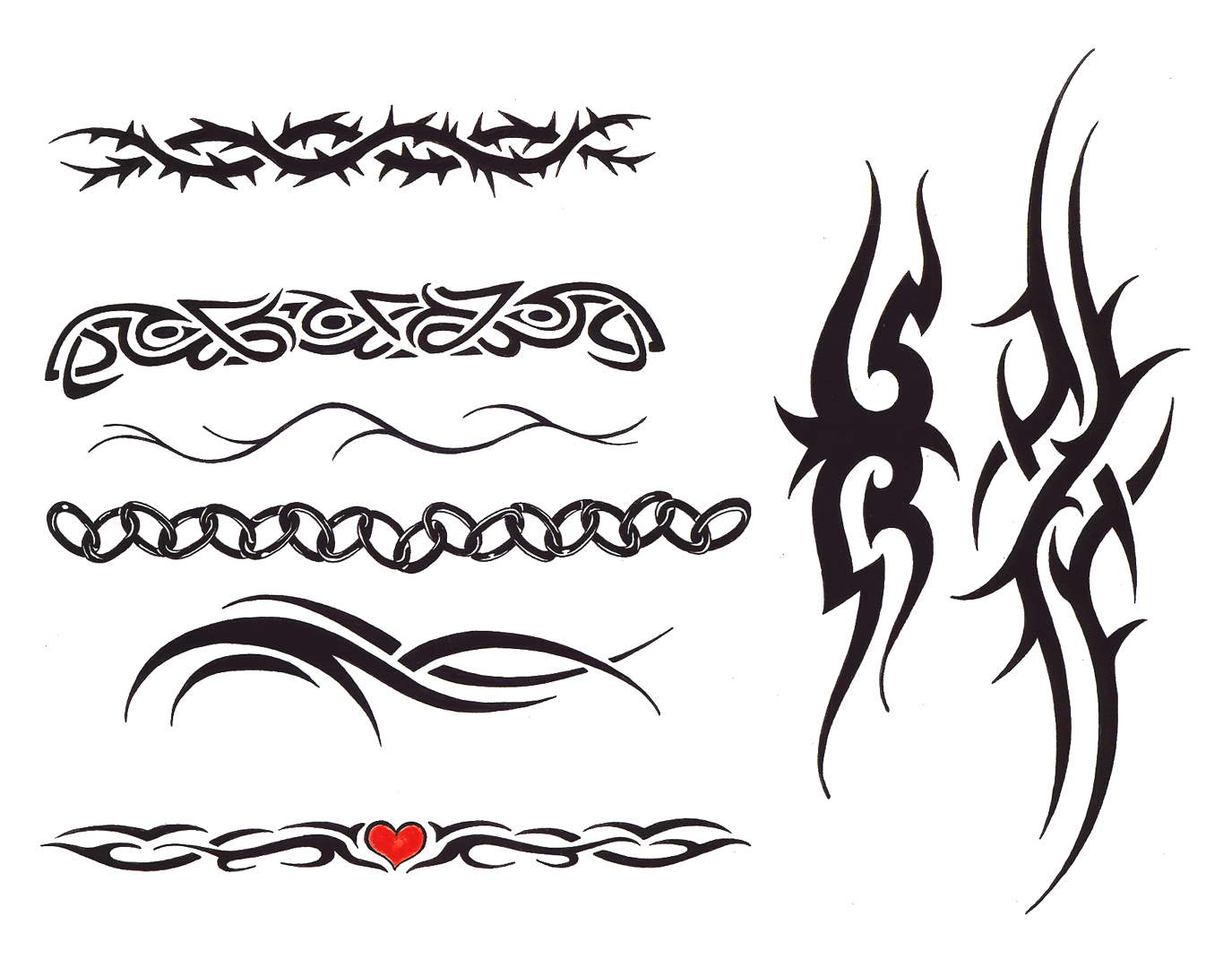 Tribal Arm Band Tattoo Designs