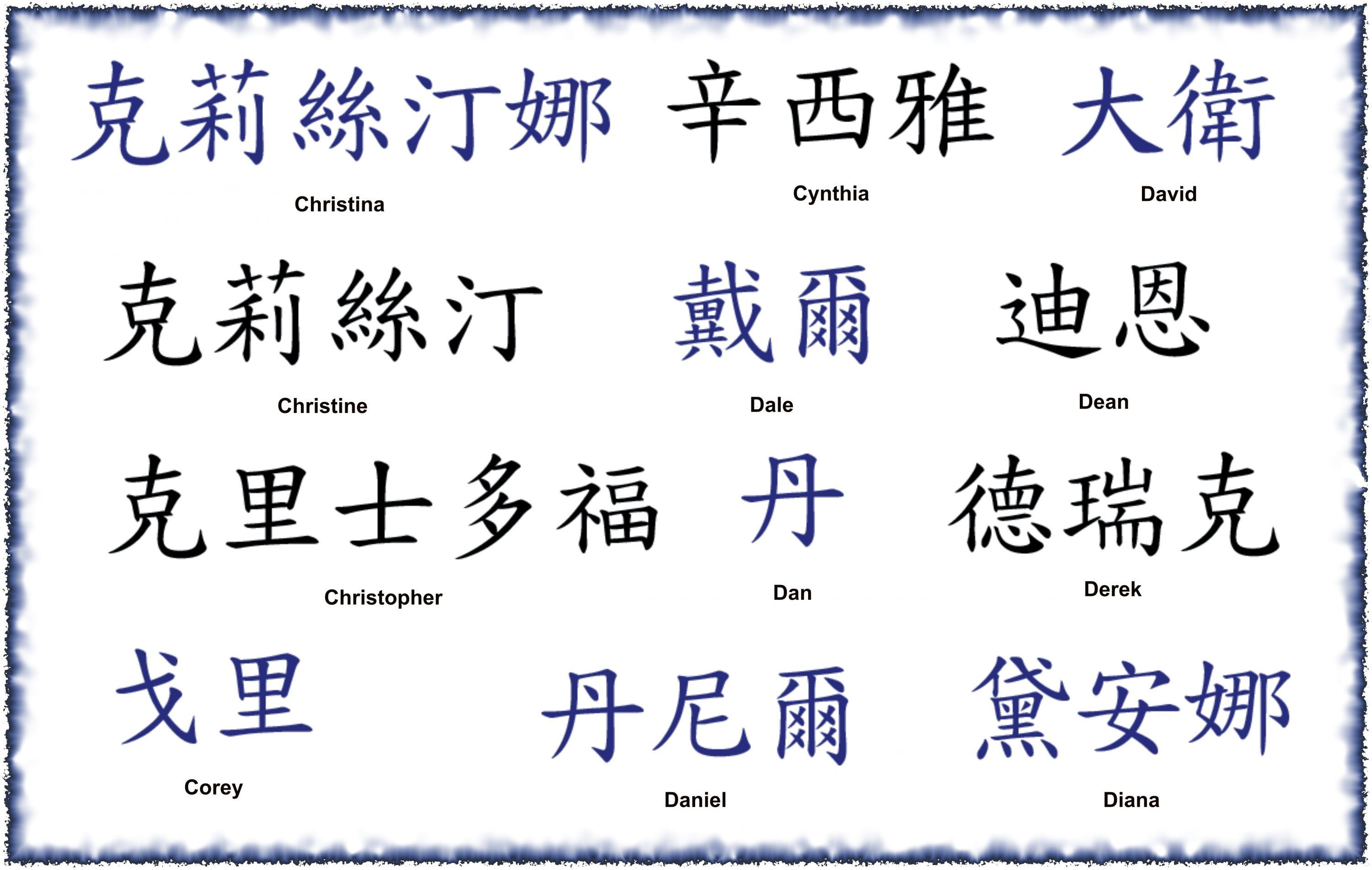 Kanji Name Tattoo Designs