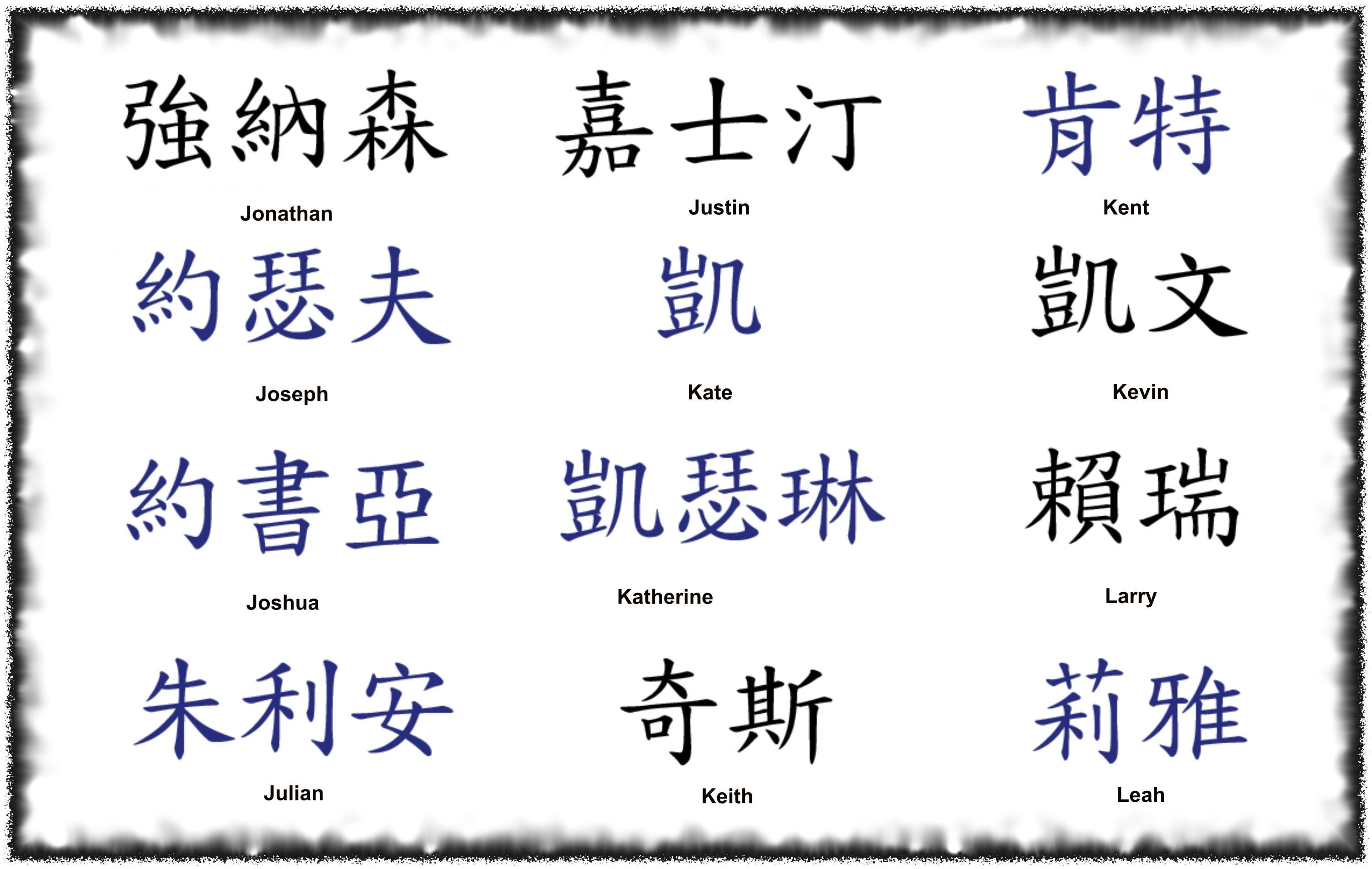 Chinese Symbols and Meanings Tattoos
