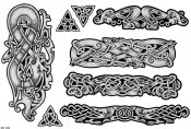 Celtic Tattoo Designs Sheet 182